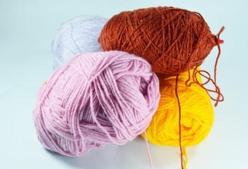 colorful knitting wool