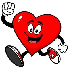 Heart Mascot Running