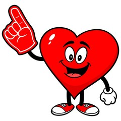 Heart with Foam Finger