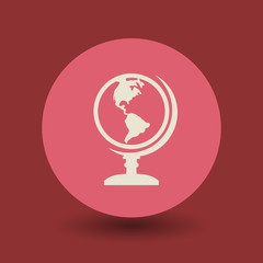 Earth globe symbol, vector