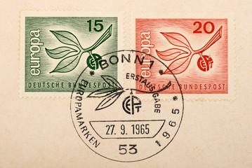Vintage German postage stamps