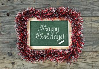 Blackboard chalkboard happy holidays