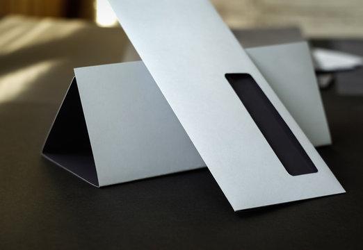 Blank envelope and letterhead