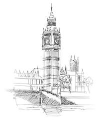 LONDYN BIG BEN - ILUSTRACJA
