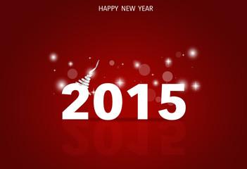 2015 Happy New Year. Vector illustration.
