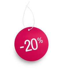 Tag 20 % off