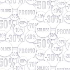 Pattern -Promotion Blanc sur blanc