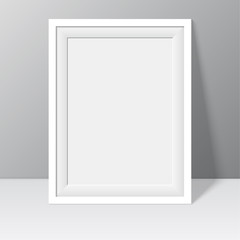 white frame for paintings or photographs
