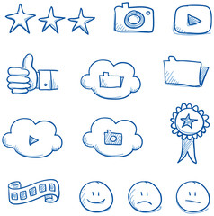 Icon set social media & award