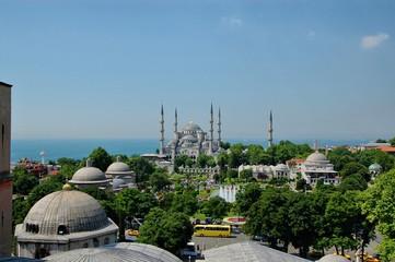 Blue Mosque Istanbul-Sultanahmet  from Hagia Sophia minaret