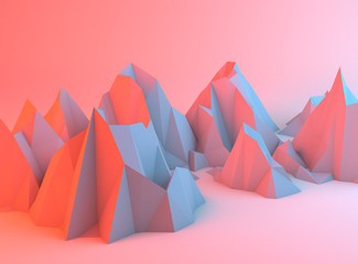 Colorful Abstract Mountains