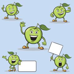 Cartoon apples