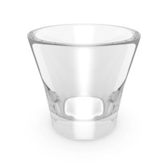 empty drink glass on white background