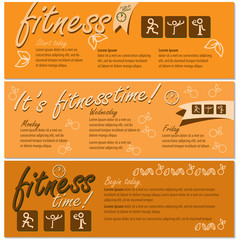Fitness Flyer Template - Vector Illustration, Graphic Design, Editable For Your Design