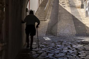 Eldery walk