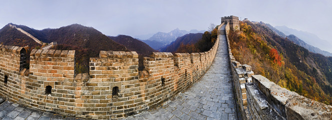 Fotobehang Chinese Muur CN Great Wall 9 Vert Panorama
