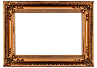 Massive Antique Gold Picture Frame