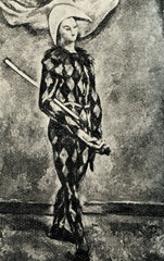 Harlequin by Paul Cézanne