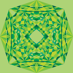 green geometric ornament