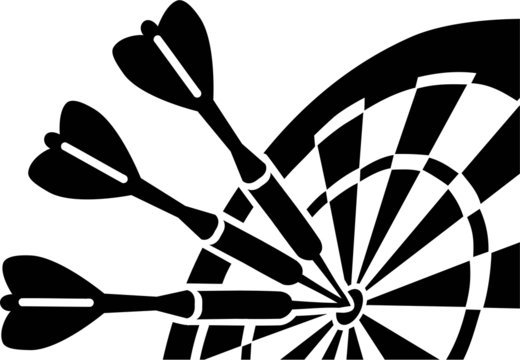 Dartboard with Darts