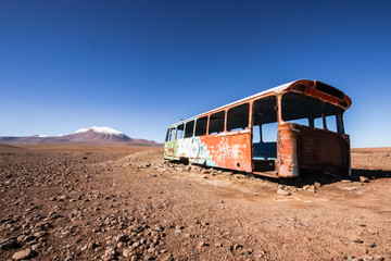 An abandoned bus in Bolivia