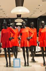 Black, female shop mannequin