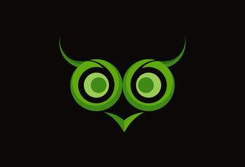 Owl abstract logo vector