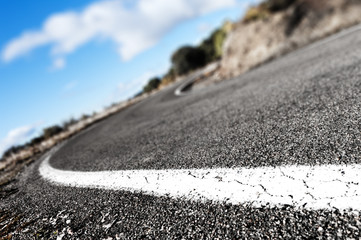 detail curve road background