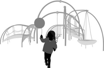 Balloon at the Playground