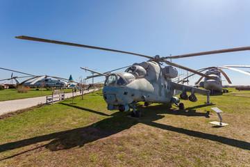 TOGLIATTI, RUSSIA - MAY 2, 2013: The Mil Mi-24V (NATO reporting
