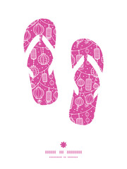 Vector holiday lanterns line art flip flops silhouettes pattern