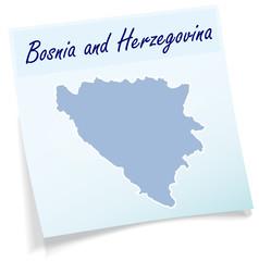 Karte von Bosnien-Herzegowina