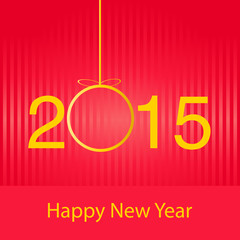 New year greeting card. Vector image