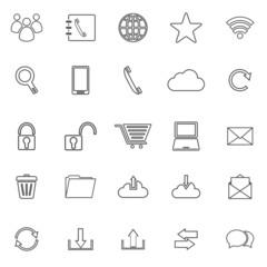 Communication line icons on white background
