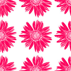 Art flower seamless pattern on the background.