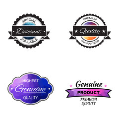 Vector commercial stamps set in polygonal style for business and