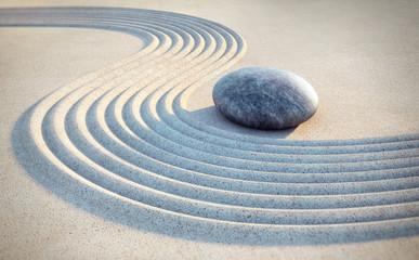 Wall Mural - Stein und Linien im Sand
