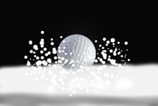 golf ball in winter