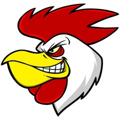 Rooster Mascot Head