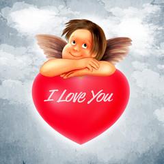 Wall Mural - ANGEL LOVE SKY