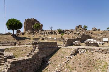 The Acropolis of Pergamum. View of ruins
