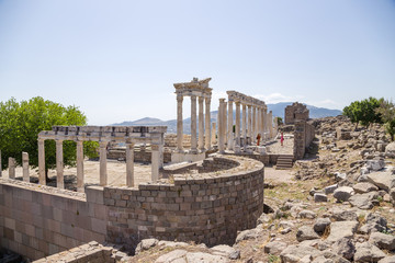 Turkey. Ancient ruins of the Acropolis of Pergamum