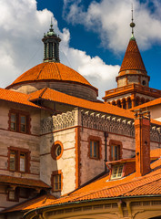 Architectural details at Flagler College in St. Augustine, Flori