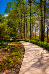 Path through gardens at the Washington DC Mormon Temple in Kensi