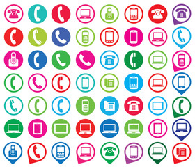 Set of colorful gadget icons. Vector illustration.