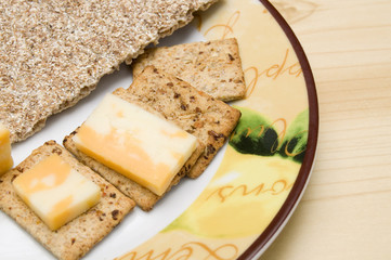 Marble Cheese and Crackers