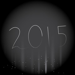 stylish background of happy new year 2015