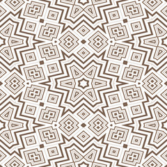 Seamless geometric pattern in brown spectrum