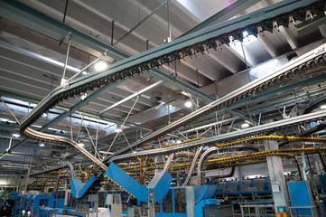 Conveyor belt for newspapers