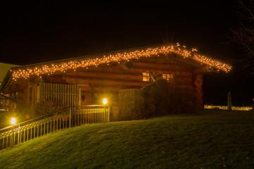 Lodge at Christmas time